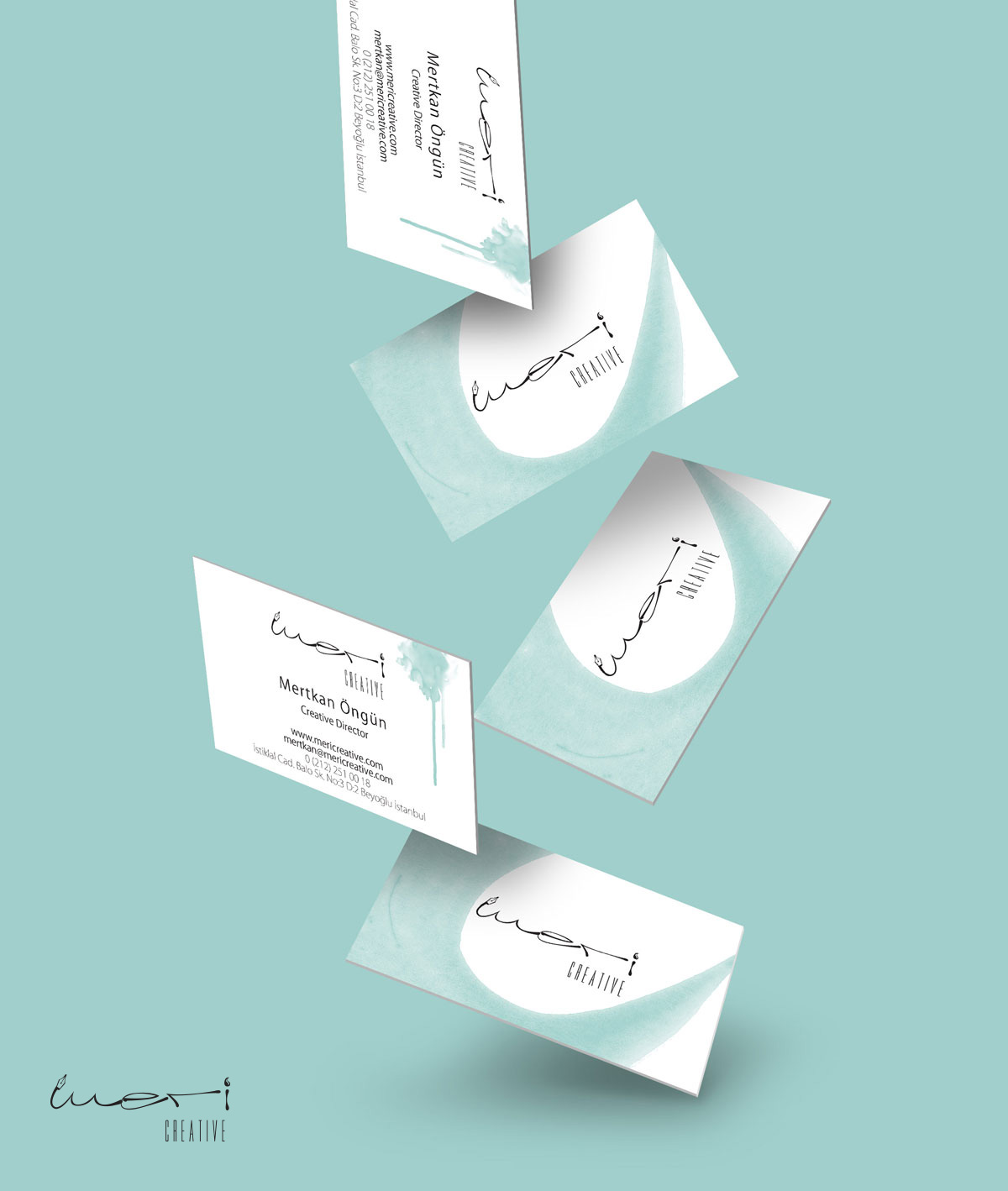 Meri Creative Agency Branding Design Business Card Design