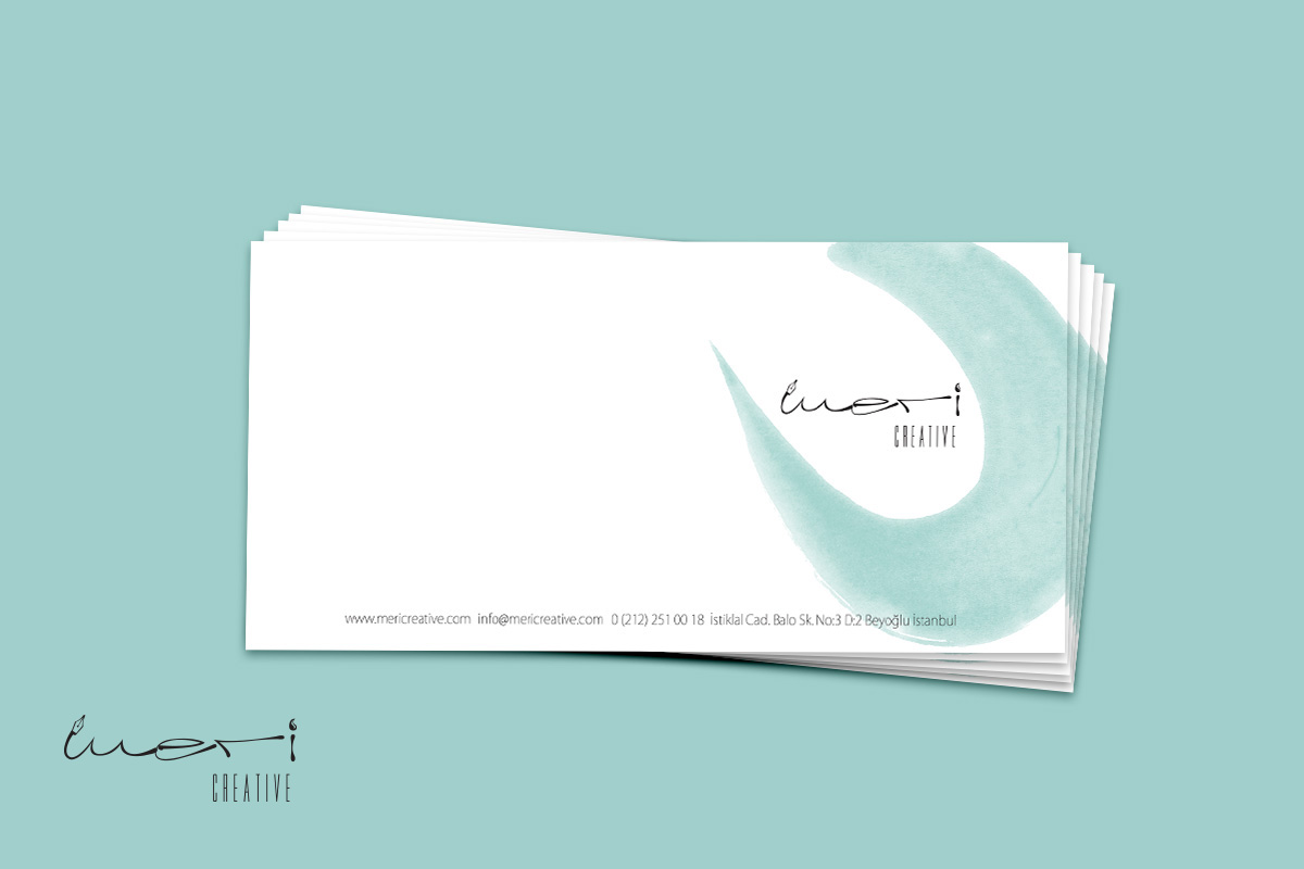 Meri Creative Agency Branding Design Envelope Design