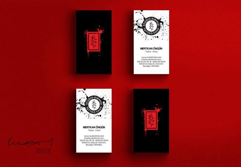 Studio Kırmızı Tattoo Shop Branding design