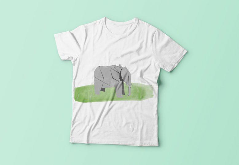 Origami T-shirt Design