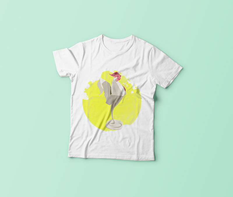 origami horoz t-shirt