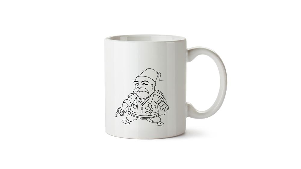 ottoman mug design-osmanlı karakteri kupalar