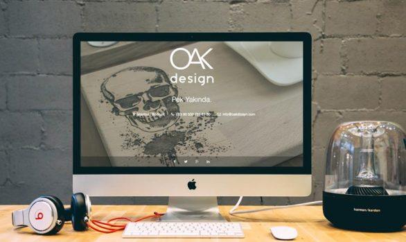 OAK DESİGN Web Sitesi Tasarımı
