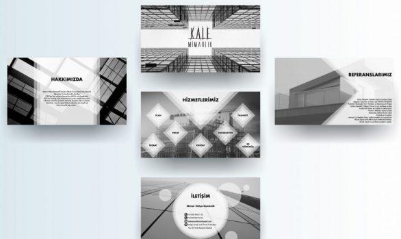 Kale Mimarlık Sunum Tasarımı