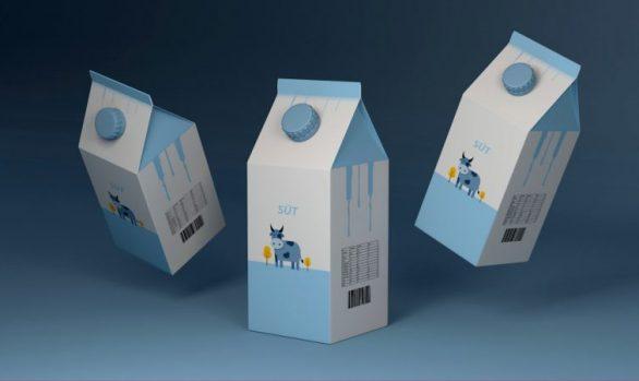 Süt Kutusu Ambalaj Tasarımı