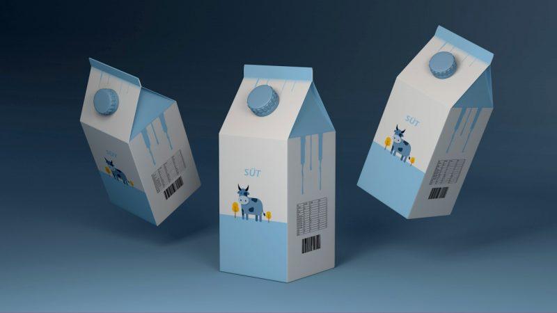 3D Süt Ambalaj TAsarımı