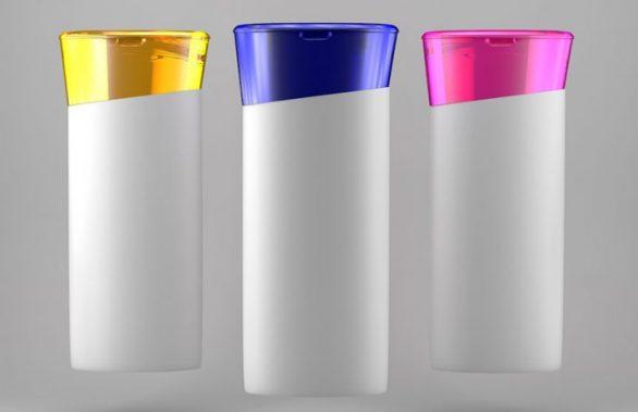 3D şampuan şişesi görsellleştirme