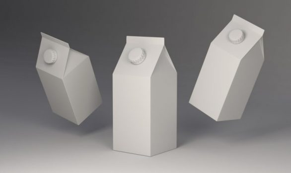 3D Süt Kutusu Modelleme